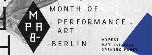 Month of Performance Art