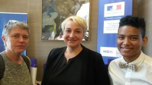 L'équipe de Genre et Ville avec la Secrétaire d'Etat aux Droits des Femmes Pascale Boistard